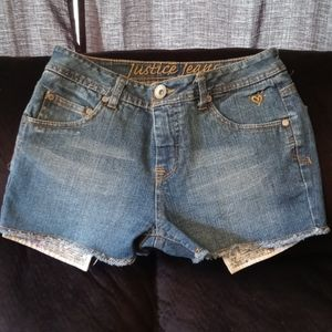 ❤NWOT DENIM JEAN SHORTS BY JUSTICE❤